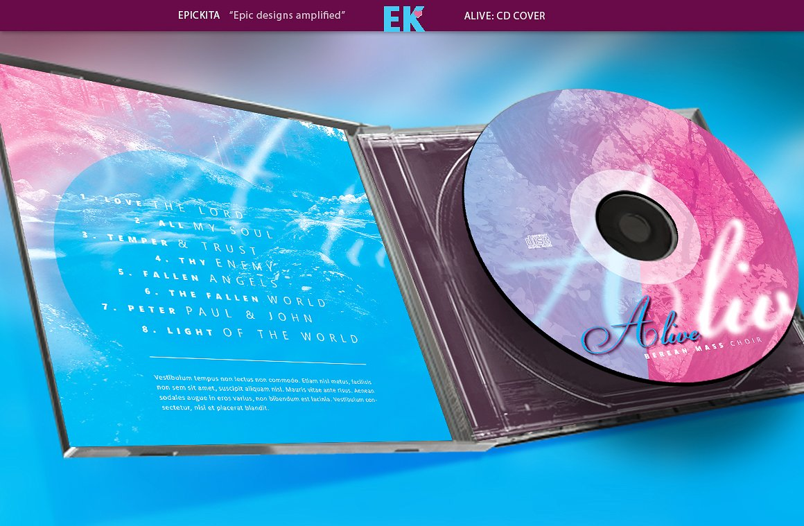 Album covers on Behance