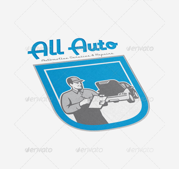 all auto automotive service logo