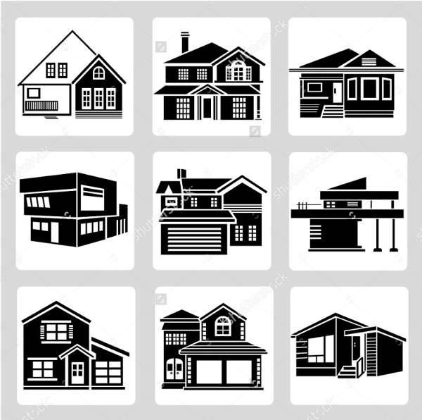 architecture building icons