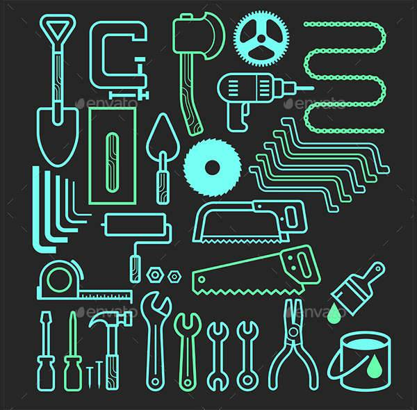 Architecture & Construction Tools Icons