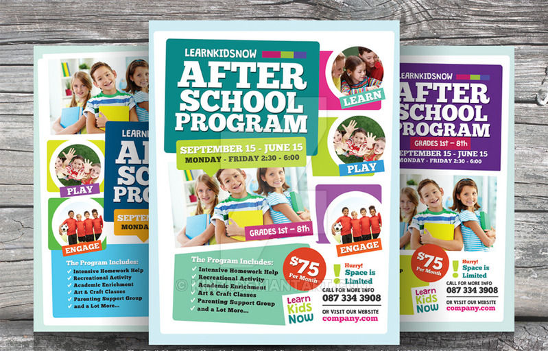 Art School Flyer Template