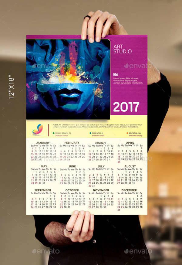 Artist Poster Calendar