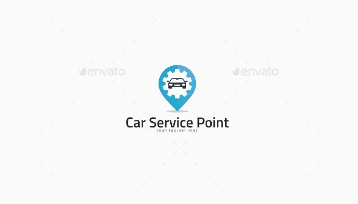 auto car service point logo