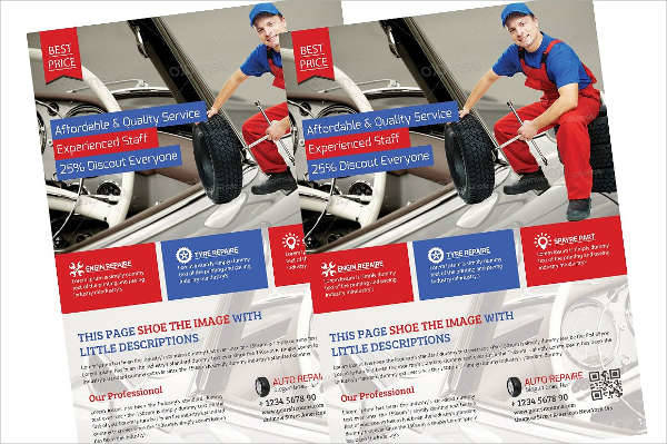 Auto Service Flyer Template
