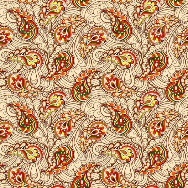 autumn paisley patterns