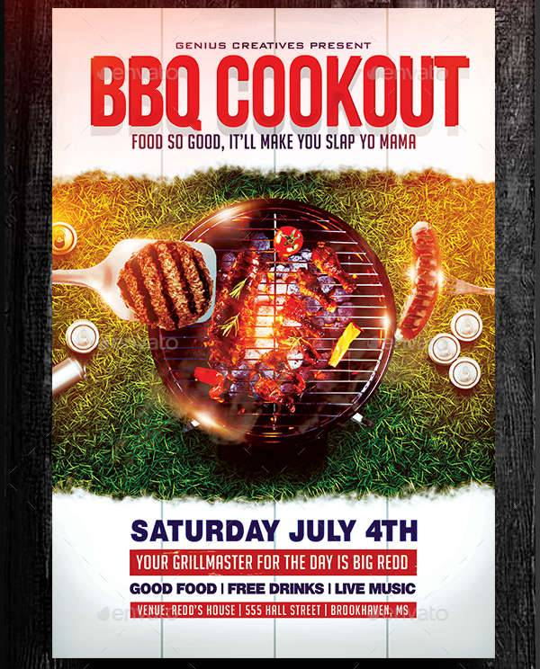 Bbq Party Flyers Designs  Printable Psd Ai Vector Eps