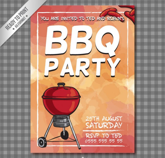 BBQ Party Flyer Design