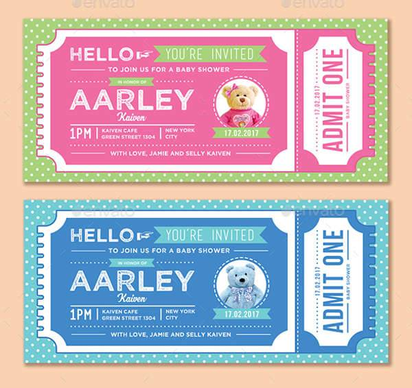 Baby Shower Invitation Ticket