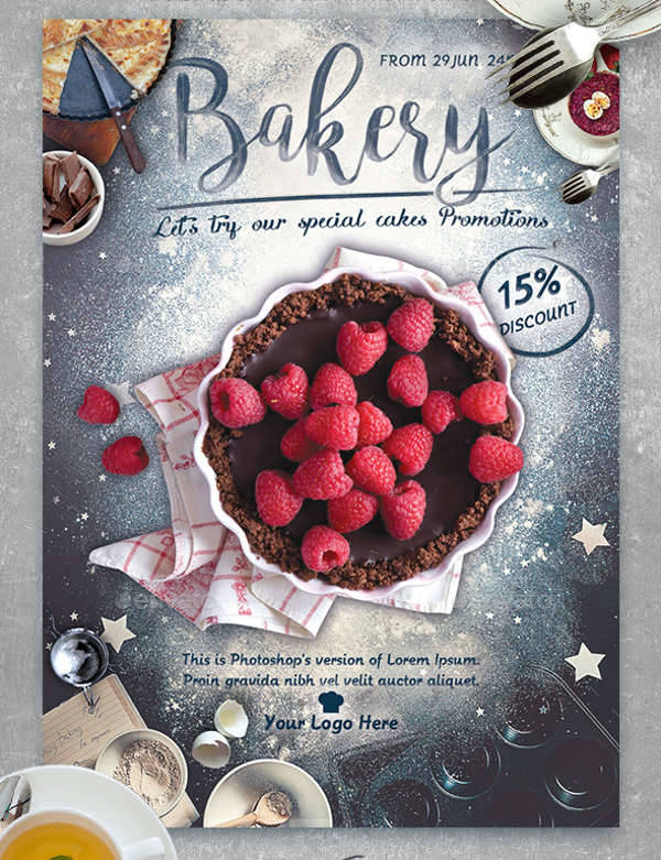 Bakery Promotion Flyer Template