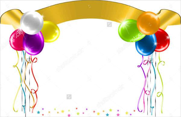 Ballon Birthday Party Banner