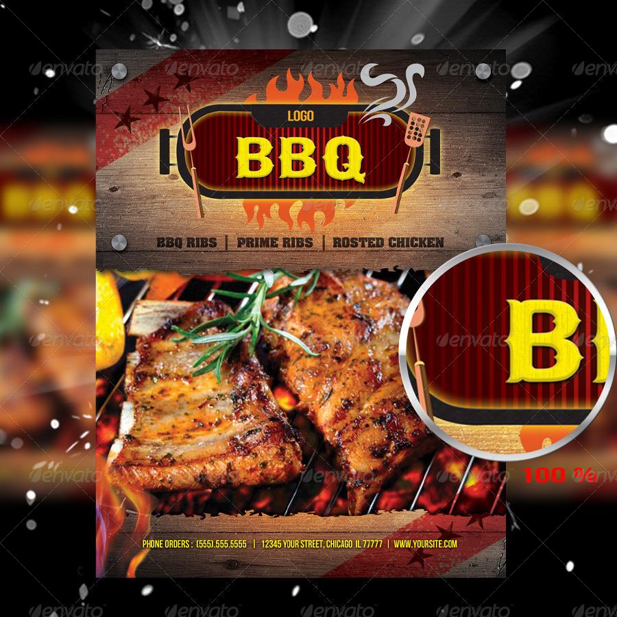 BarBeCue Restaurant Flyer