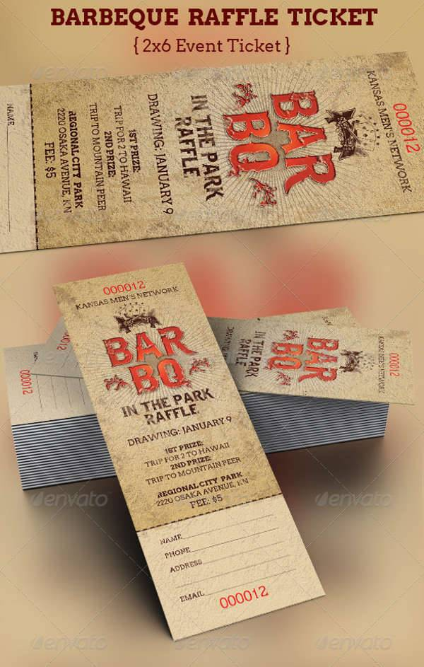 BarBeQue Raffle Ticket