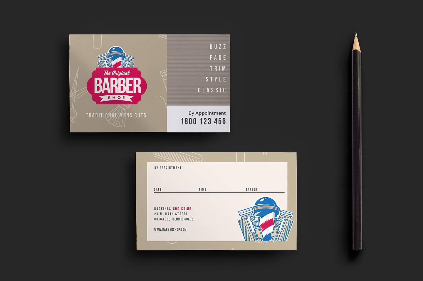 barbers appointment card template