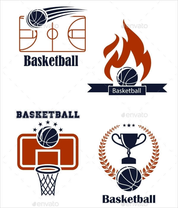 basketball sports emblem logo