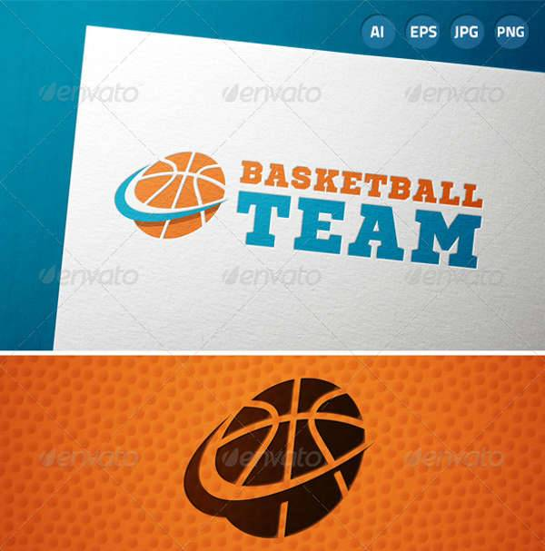 Basketball Team Sports Logo