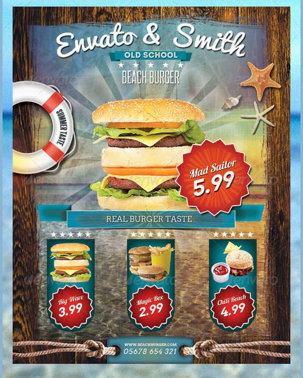 Beach Burger Flyer