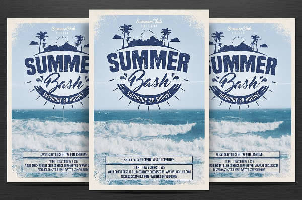 Beach Summer Bash Flyer