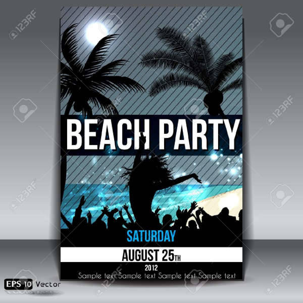 Beach Summer Nights Flyer