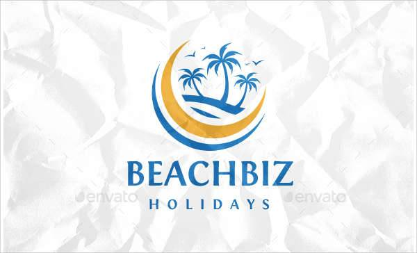 beach travel logo