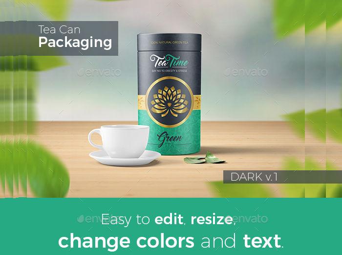 beautiful tea packaging label
