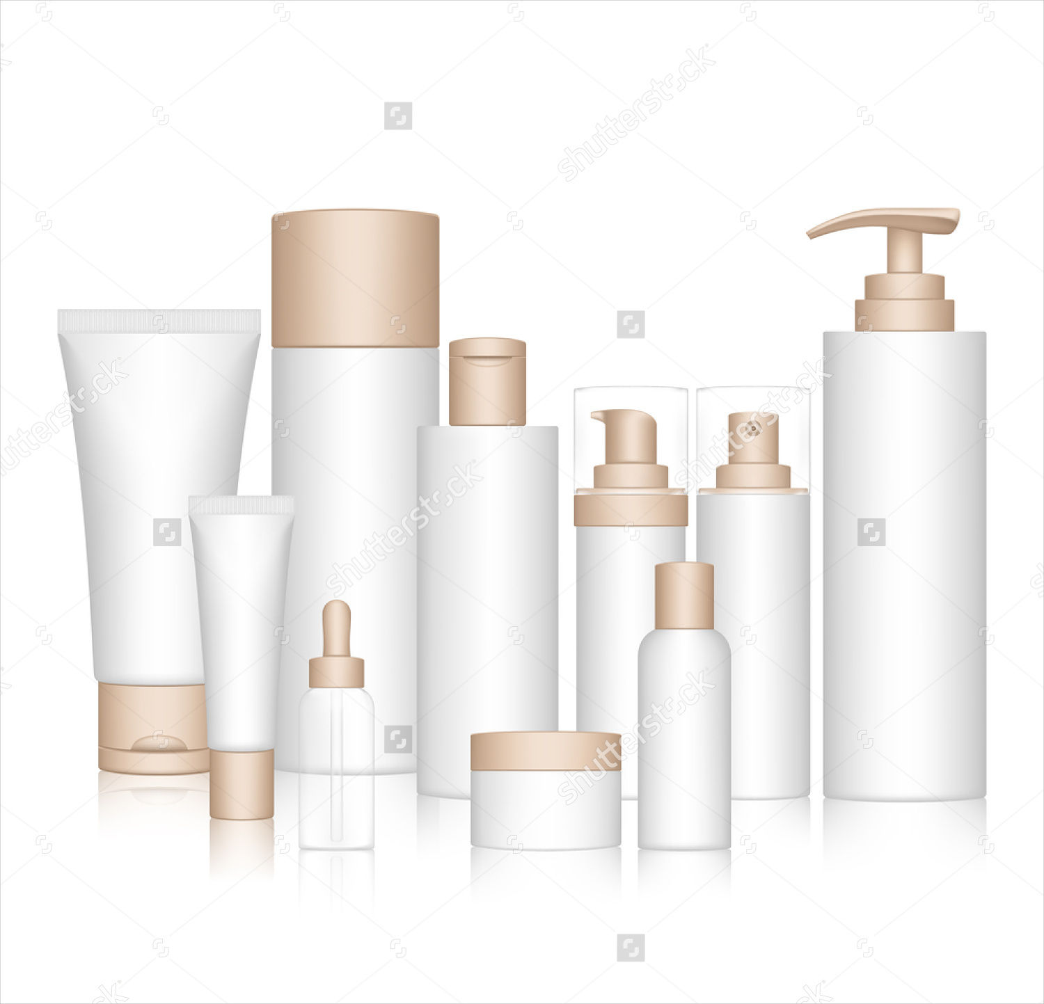 beauty products cosmetics packaging vector