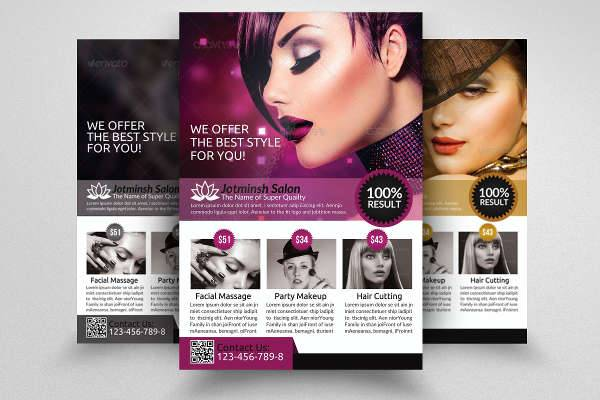 10 Cosmetic Flyer Designs