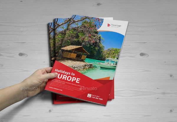 Bifold Holiday Travel Brochure