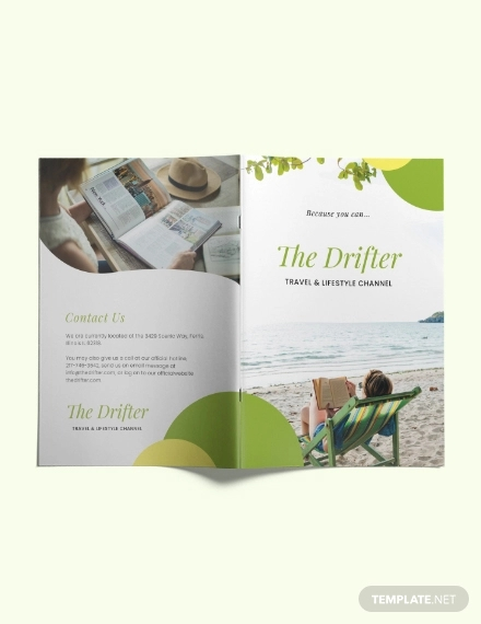 bifold travel brochure template