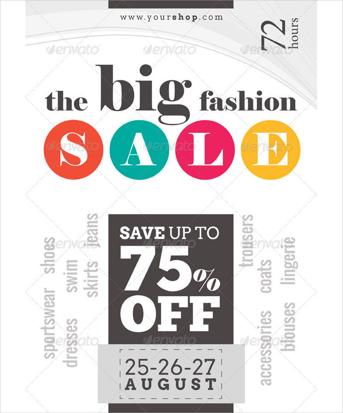 Big Sale Flyer Double Sided