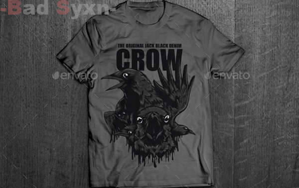 black crow t shirt design