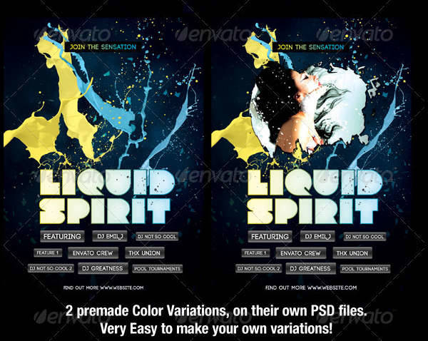 Black Liquid Flyer Template