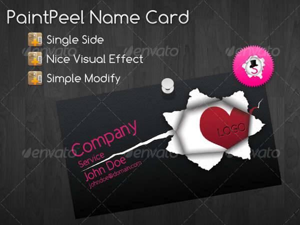 Black Name Card