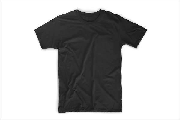 black t shirt template