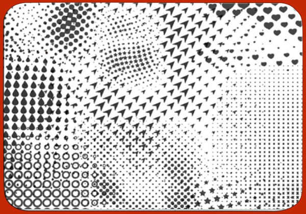 black and white halftone brushes