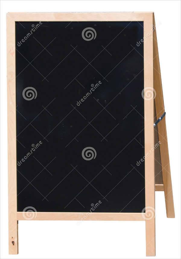 Blank Chalkboard Cafe Menu