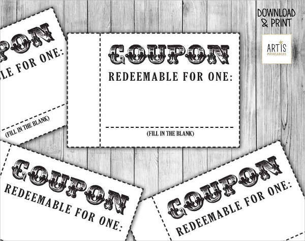 Blank coupons templates free