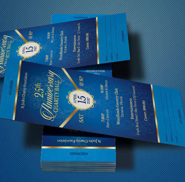 Blue Anniversary Gala Ticket