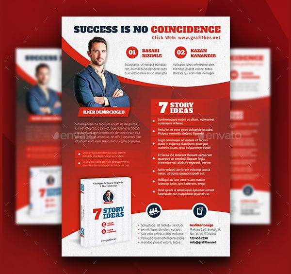 Book Advertising Flyer Template