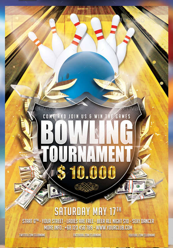 bowling championship flyer