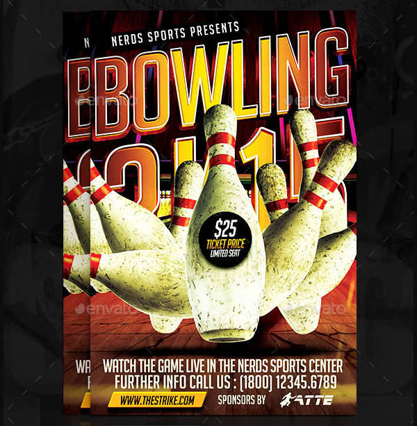 bowling championships sports flyer