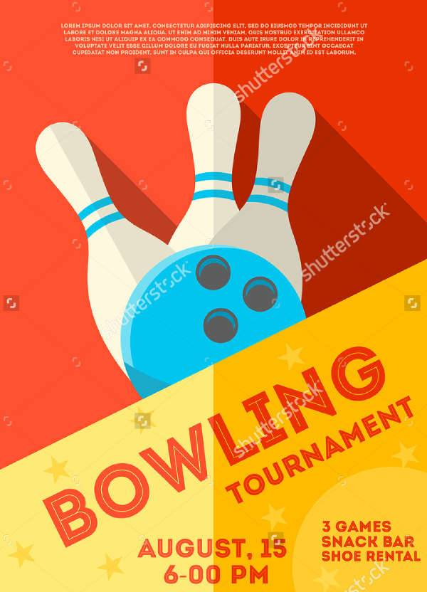 Bowling Game Flyer Design