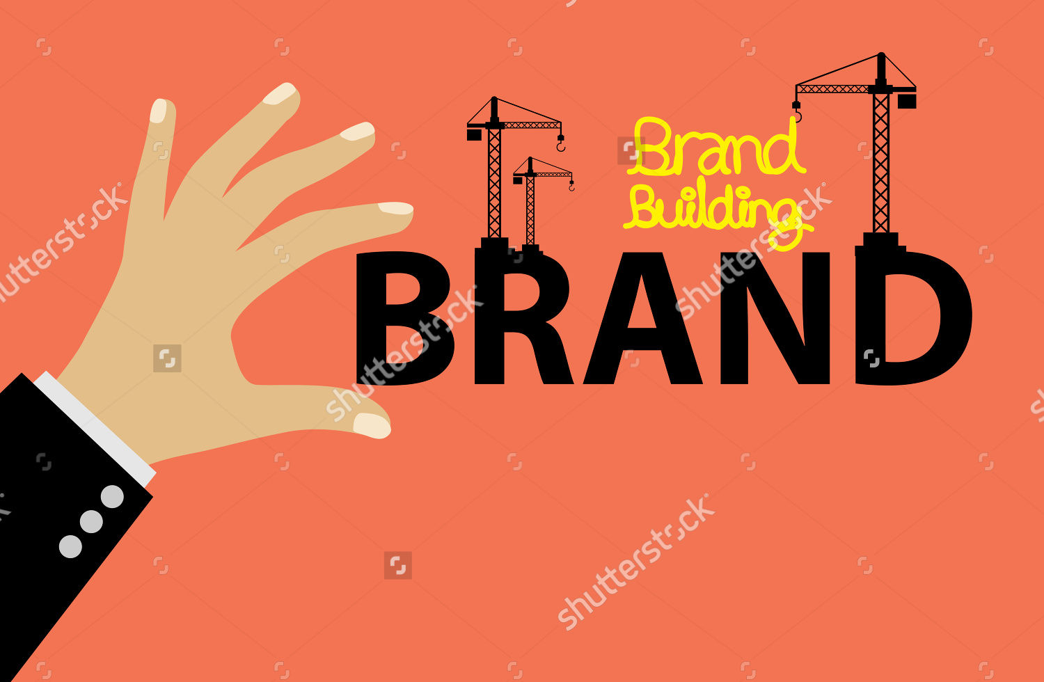 brand building concept vector illustration