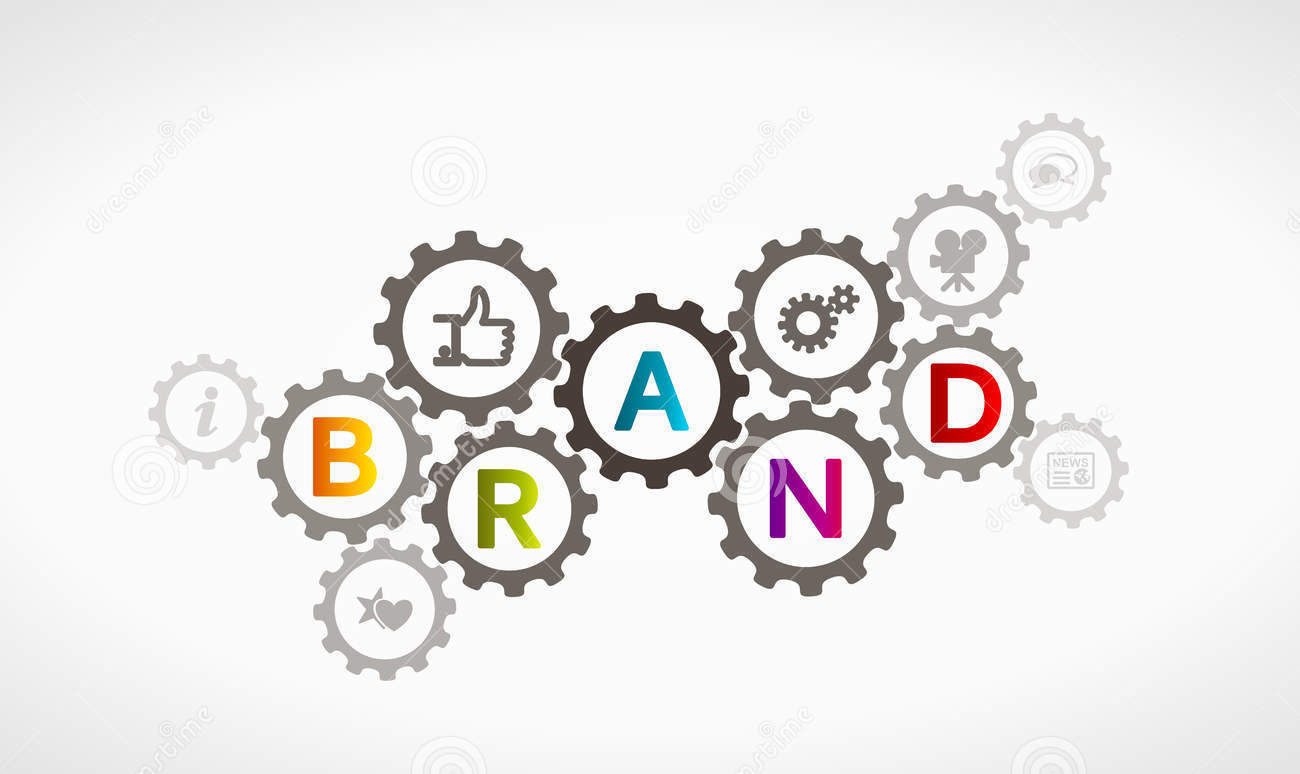 brand synergy stock vector