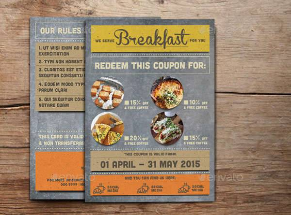 Breakfast Coupon Card