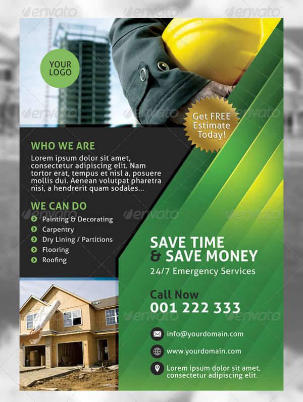 Building Construction Services Flyer