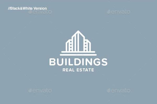 buildings real estate logo