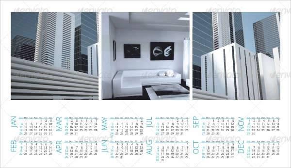 Business Calendar Poster