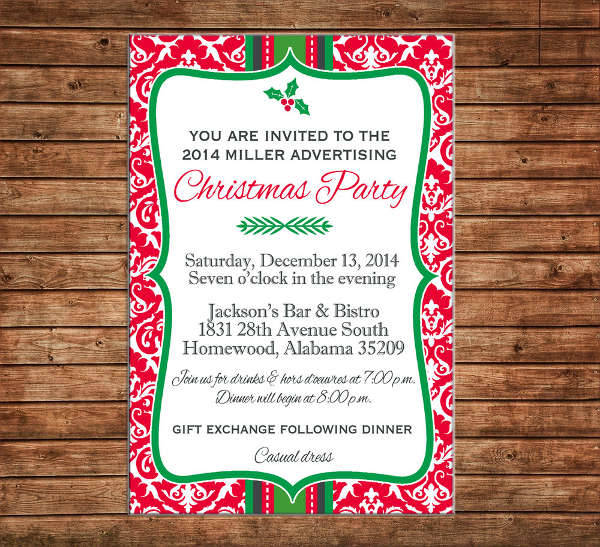 Business Christmas Dinner Invitation