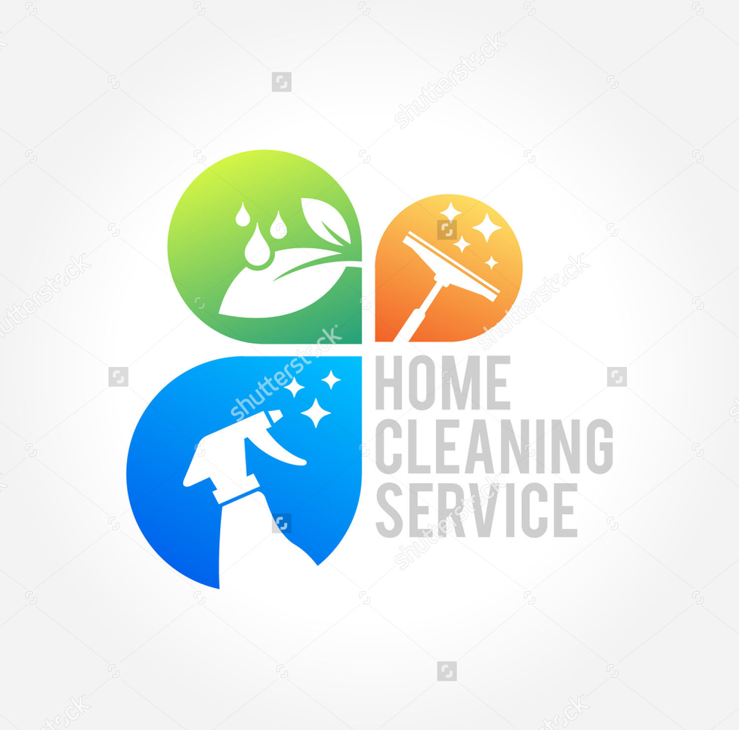 business cleaning service logo