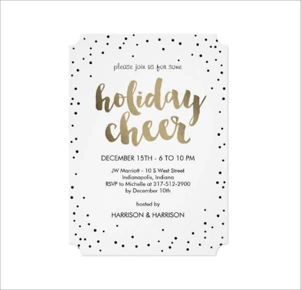 Business Holiday Invitation Card